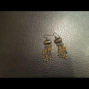 Tigers eye beaded earrings